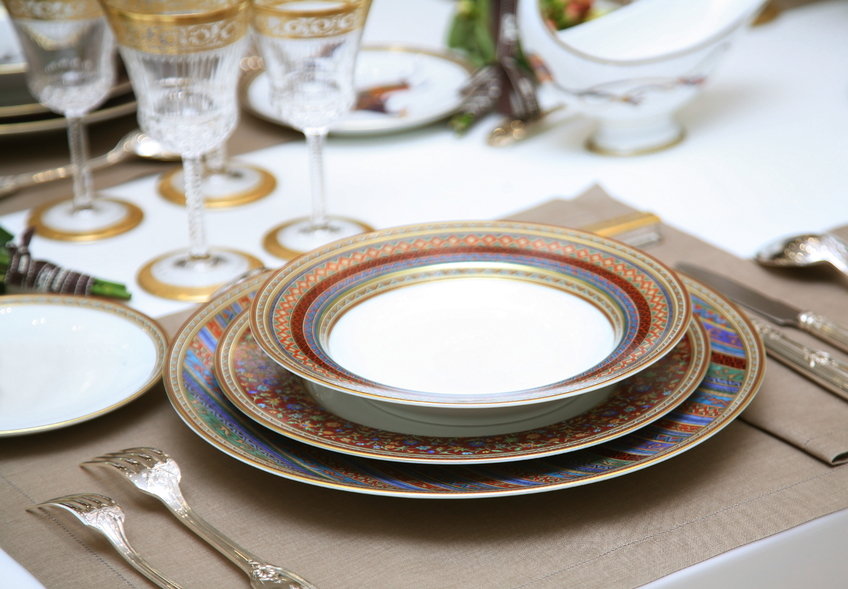 Refined table setting.