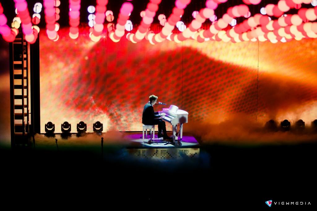 Выступление Стивена Ридли, британского пианиста